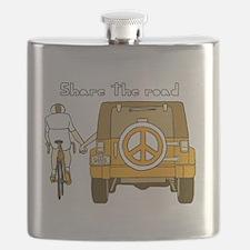 Funny Bicycle art Flask