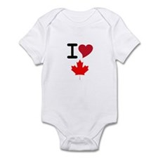 Canada Heart Leaf Infant Bodysuit