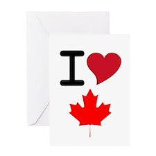 Canada Heart Leaf Greeting Card