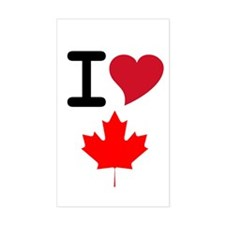 Canada Heart Leaf Rectangle Decal