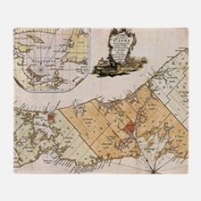 Vintage Map of Prince Edward Island Throw Blanket