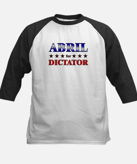 ABRIL for dictator Kids Baseball Jersey