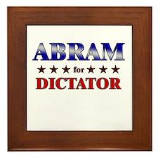 ABRAM for dictator Framed Tile