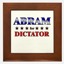 ABRAM for dictator Framed Tile
