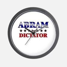 ABRAM for dictator Wall Clock