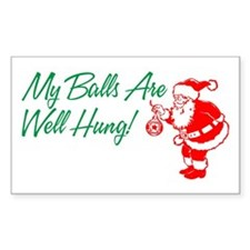 My Balls Are Well Hung Rectangle Decal
