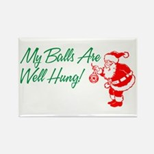 My Balls Are Well Hung Rectangle Magnet