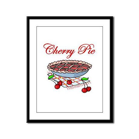 Cherry Pie Framed Panel Print