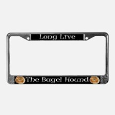 Long Live The Bagel License Plate Frame