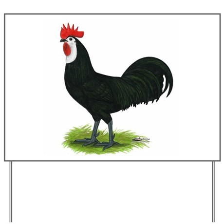 whitefaced spanish cock yard sign by jackynet