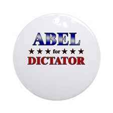 ABEL for dictator Ornament (Round)