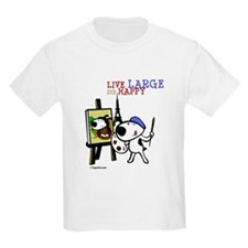Cute Painting Puppy Cartoon on T-Shirt