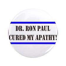 """Ron Paul cure-1 3.5"""" Button"""