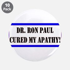 "Ron Paul cure-1 3.5"" Button (10 pack)"