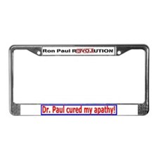 Ron Paul cure-3 License Plate Frame