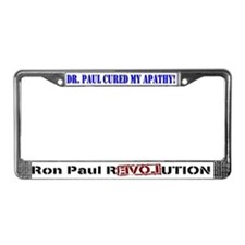 Ron Paul cure-2 License Plate Frame