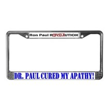 Ron Paul cure-1 License Plate Frame