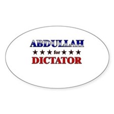 ABDULLAH for dictator Oval Decal