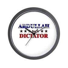 ABDULLAH for dictator Wall Clock