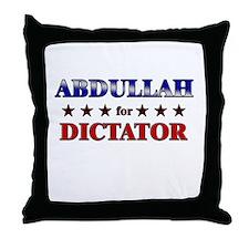 ABDULLAH for dictator Throw Pillow