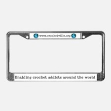 Enabling Crochet Addicts License Plate Frame