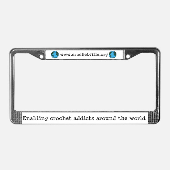 Enabling Crochet Addicts License Plate Frame