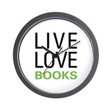 Live Love Books Wall Clock