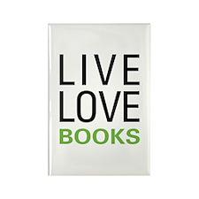 Live Love Books Rectangle Magnet
