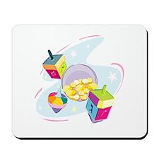 Pastel Dreidels  Mousepad