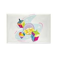Pastel Dreidels Rectangle Magnet