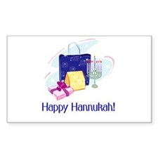 Happy Hannukah! Rectangle Decal