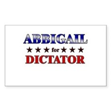 ABBIGAIL for dictator Rectangle Decal