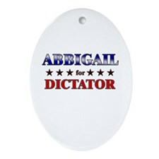 ABBIGAIL for dictator Oval Ornament