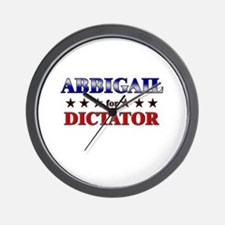 ABBIGAIL for dictator Wall Clock