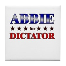 ABBIE for dictator Tile Coaster