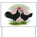 Whitefaced Spanish Chickens2 Yard Sign