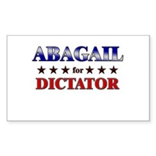 ABAGAIL for dictator Rectangle Decal