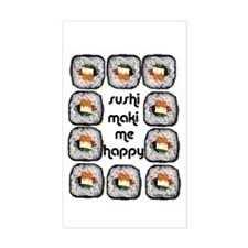 Sushi Maki Me Happy Rectangle Decal