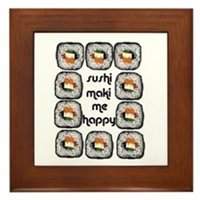 Sushi Maki Me Happy Framed Tile