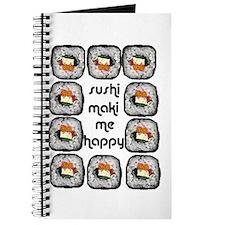 Sushi Maki Me Happy Journal