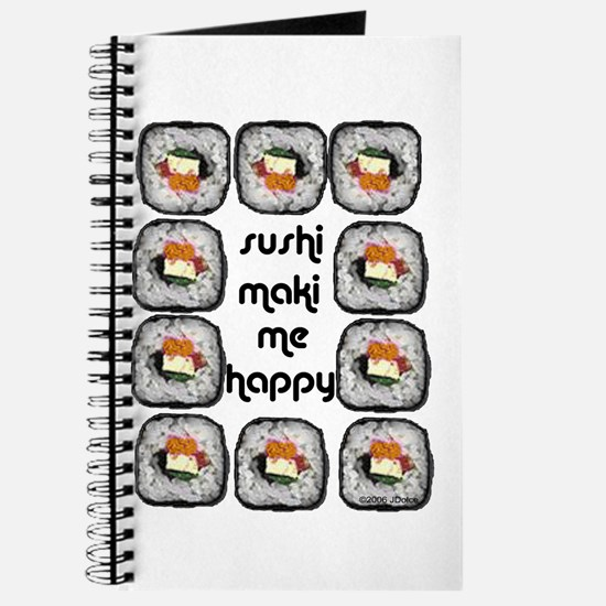 Sushi Maki Me Happy Journal