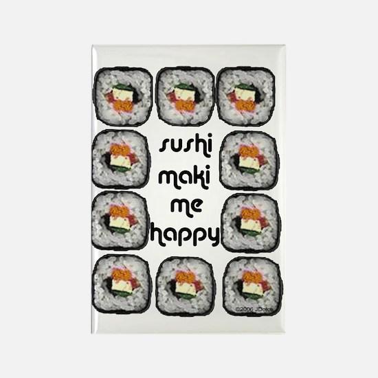Sushi Maki Me Happy Rectangle Magnet