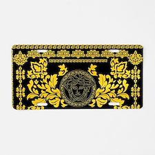 Gold Medusa Aluminum License Plate
