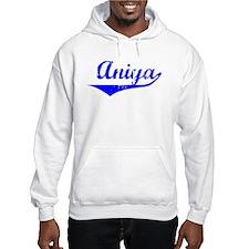 Aniya Vintage (Blue) Hoodie Sweatshirt