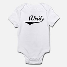 Abril Vintage (Black) Infant Bodysuit