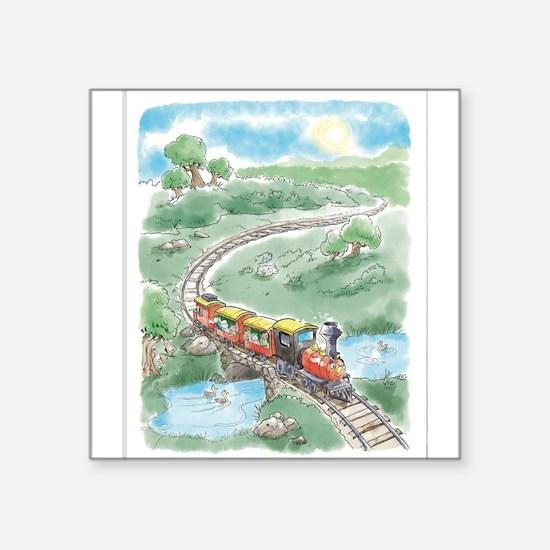 Tipton's first ride around Train Station P Sticker