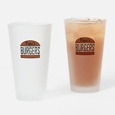 Custom Burgers Drinking Glass
