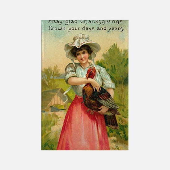 Funny Vintage thanksgiving Rectangle Magnet