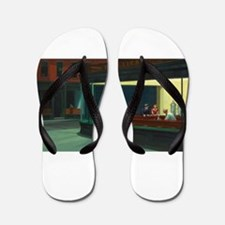 Nighthawks - Edward Hopper Flip Flops