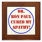 Ron Paul cure-2 Framed Tile